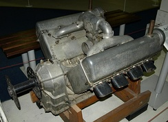 Sunbeam Arab engine on display at the Royal Air Force Museum London