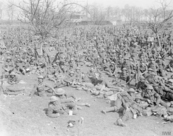 Troops of the 10th Battalion, Royal Fusiliers at Wagonlieu, 8 April 1917