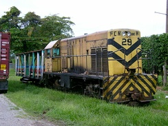 City rail in La Ceiba, Honduras is one of the few remaining passenger train services in Central America