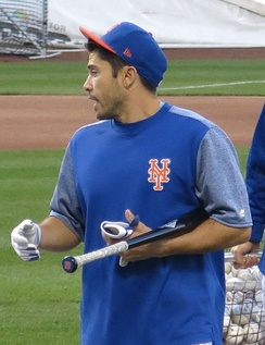 d'Arnaud with the Mets in 2017