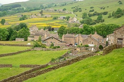 A typical village in the agricultural area of the Yorkshire Dales