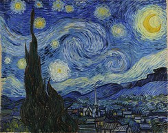 The Moon is prominently featured in Vincent van Gogh's 1889 painting, The Starry Night