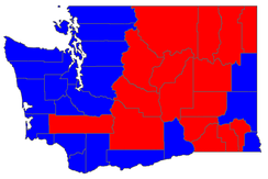 Election results by county.