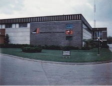 WLWC's studio building, 3165 Olentangy River Road in Columbus, under Avco ownership in the 1960s.