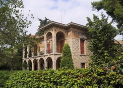View of Vila Atlantis, in Kifissia, designed by Ernst Ziller.