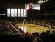 Interior during an exhibition basketball game against Cal Poly Pomona