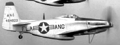 An F-51H Mustang of the 159th Fighter Squadron. The 159th FS operated the Mustang between 1947 and 1954.