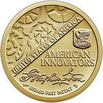 Obverse (left) and reverse (right) of the American Innovation introductory dollar coin