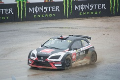 René Münnich driving an Ibiza (Fourth generation) in the 2016 World RX of Portugal