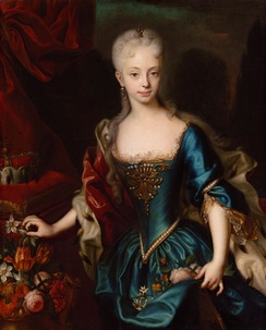 Maria Theresa of Austria as a young woman in 1727.