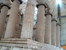 Partial view of the temple of Apollo Epikurios (healer) at Bassae in southern Greece