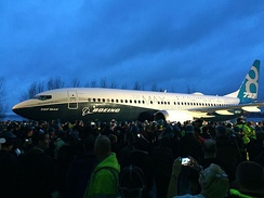 Roll-out of the first Boeing 737 MAX in December 2015