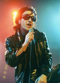 "Bono as his alter-ego ""The Fly"" on the Zoo TV Tour in 1992"