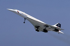 The Concorde supersonic transport aircraft
