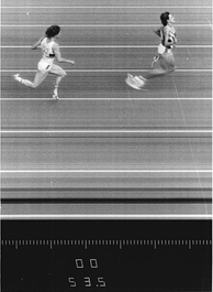 The finish of the 1987 East German athletics championships