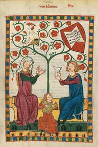 The University Library's collection includes the Codex Manesse, an important German song manuscript of the Middle Ages.