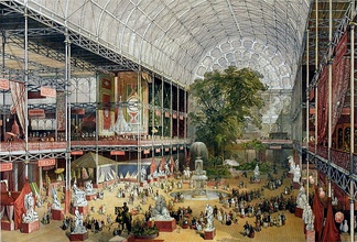 The Crystal Palace housed the Great Exhibition of 1851