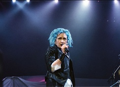 Lauper performing in 2000