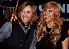 Guetta and his ex-wife Cathy in January 2012 at the NRJ Music Awards