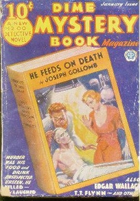 Cover of the pulp magazine Dime Mystery Book Magazine, January 1933