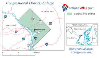 Map of the District of Columbia At-Large district.