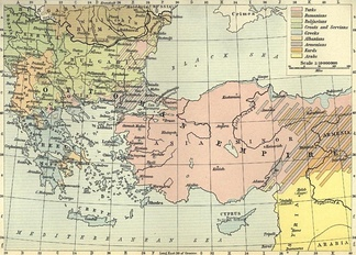 Ethnographic map of Anatolia from 1911.
