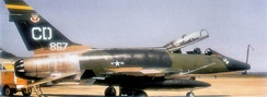 North American F-100F-10-NA Super Sabre Serial 56-3867 of the 524th TFS in Vietnam-Era camouflage.