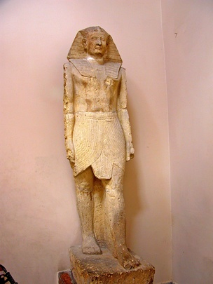 Ptolemy XII, father of Cleopatra VII as Pharaoh. Found at the Temple of Crocodile, Fayoum