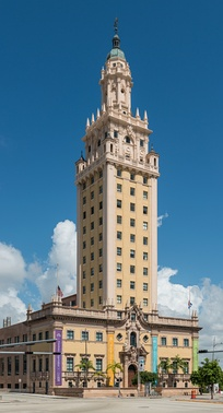 The Freedom Tower, built in 1925, is Miami's historical landmark.