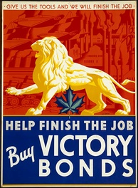 A. J. Casson's Canadian Victory Bonds poster Give Us The Tools 1941