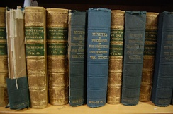 Copies of the Proceedings of the ICE in the Great George Street library