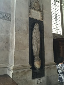 Memorial to John Donne, St Paul's Cathedral