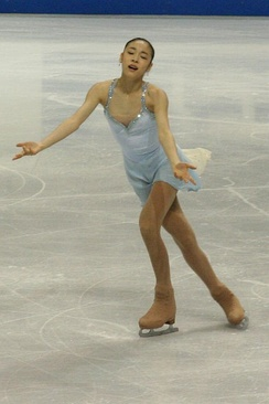 Kim performing her free skate to The Lark Ascending at the 2006 Skate Canada.