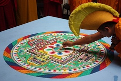 Mandala are used in Buddhism for initiation ceremonies and visualisation.[366]