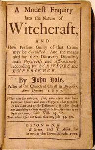 Title page of A Modest Enquiry Into the Nature of Witchcraft by John Hale (Boston, 1702)