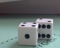 2 standard dice, included in the original Monopoly Board Game.