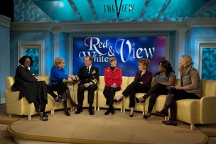 Goldberg, Walters, Behar, Shepherd, and Hasselbeck interview U.S. Navy Adm. Michael Mullen and his wife, Deborah, on November 24, 2010.