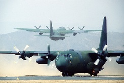 Two C-130 Hercules in South Korea
