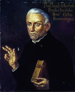 The Spanish missionary José de Anchieta was, together with Manuel da Nóbrega, the first Jesuit that Ignacio de Loyola sends to America.