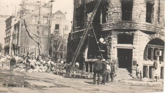 Rubble of the L.A. Times building after the 1910 bombing
