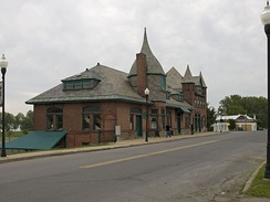 Plattsburgh's Amtrak train station