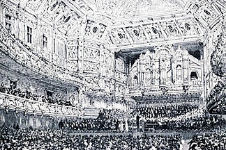 The Queen's Hall, in London, where The Planets premiered in 1918