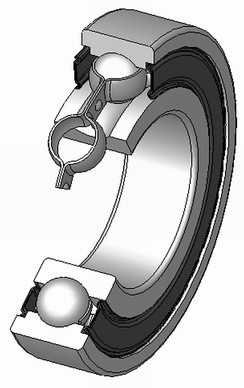 A sealed deep groove ball bearing