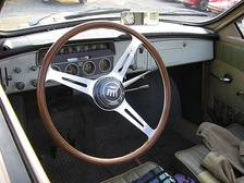 Column mounted gear shift lever in a Saab 96