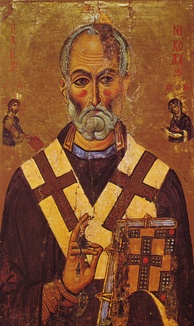 A 13th-century depiction of St. Nicholas from Saint Catherine's Monastery, Sinai