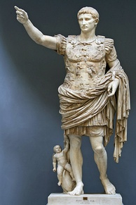 The Augustus of Prima Porta, 1st century AD, depicting Augustus, the first Roman emperor