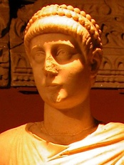 Bust of Emperor Valentinian II, a member of the Valentinianic dynasty's second generation of emperors