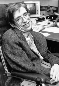 Physicist Stephen Hawking set forth a theory of cosmology explained by a union of the general theory of relativity and quantum mechanics. His 1988 book A Brief History of Time appeared on The Sunday Times best-seller list for a record-breaking 237 weeks.[172]