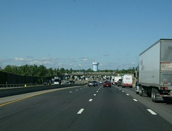 Approaching the Williamsville toll barrier on I-90 / Thruway westbound