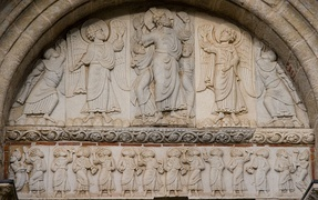 Romanesque tympanum (late 11th c. or early 12th c.).